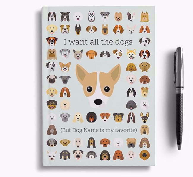 Jackahuahua 'I Want All The Dogs' Personalized Notebook