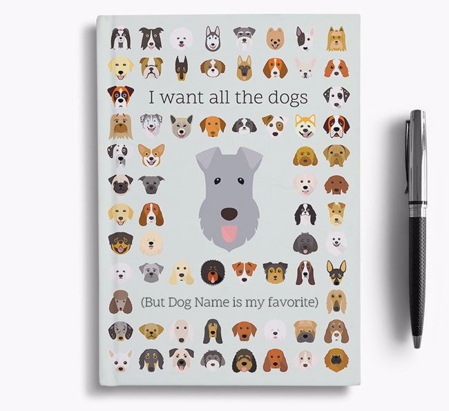 Kerry Blue Terrier 'I Want All The Dogs' Personalized Notebook