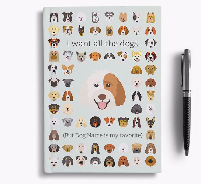 Labradoodle 'I Want All The Dogs' Personalized Notebook