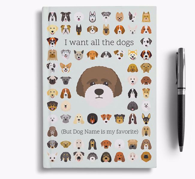 Lagotto Romagnolo 'I Want All The Dogs' Personalized Notebook