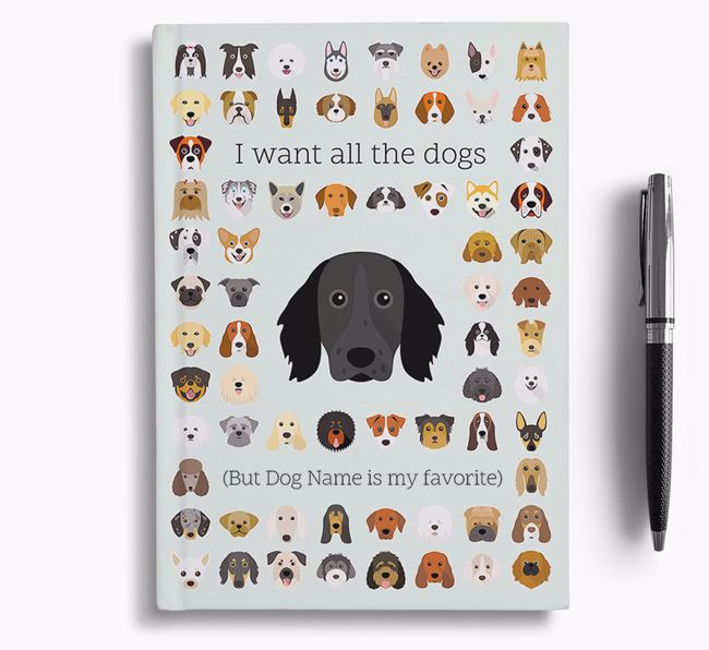 Large Munsterlander 'I Want All The Dogs' Personalized Notebook