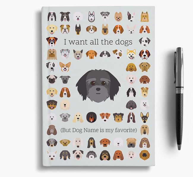 Lhatese 'I Want All The Dogs' Personalized Notebook