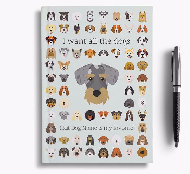 Miniature Schnoxie 'I Want All The Dogs' Personalized Notebook