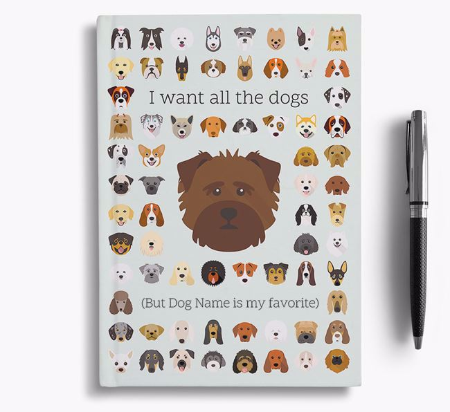 Norfolk Terrier 'I Want All The Dogs' Personalized Notebook