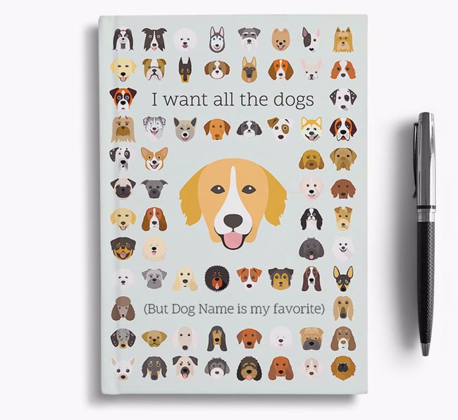 Nova Scotia Duck Tolling Retriever 'I Want All The Dogs' Personalized Notebook