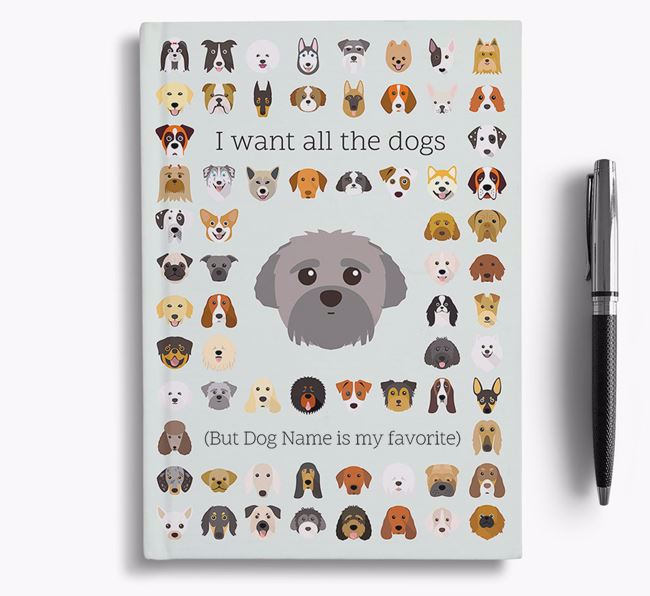 Peek-a-poo 'I Want All The Dogs' Personalized Notebook