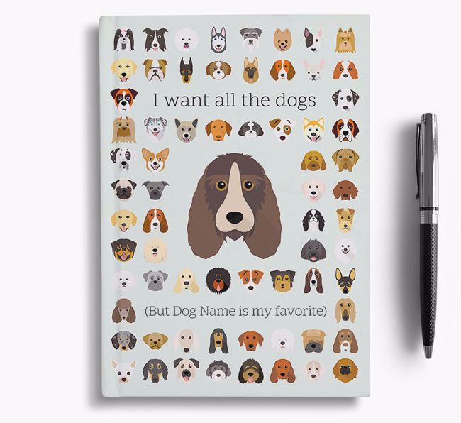 Petit Basset Griffon Vendeen 'I Want All The Dogs' Personalized Notebook