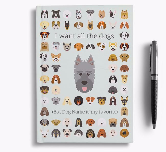 Picardy Sheepdog 'I Want All The Dogs' Personalized Notebook