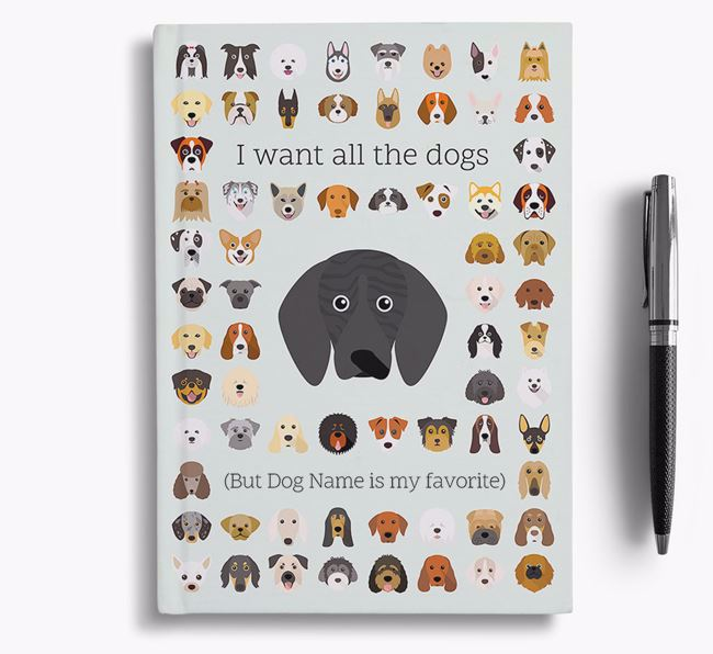Plott Hound 'I Want All The Dogs' Personalized Notebook