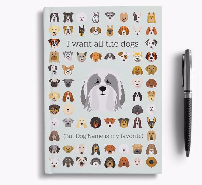 Polish Lowland Sheepdog 'I Want All The Dogs' Personalized Notebook