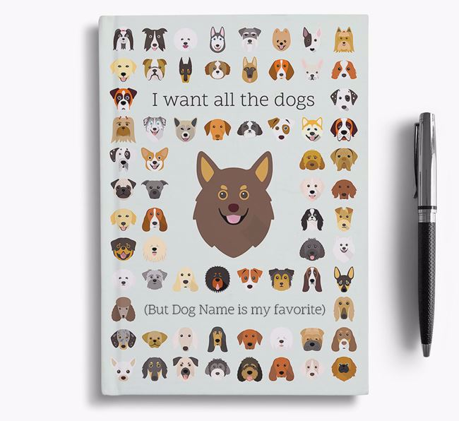 Pomchi 'I Want All The Dogs' Personalized Notebook
