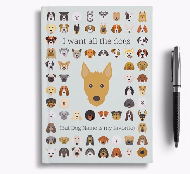Portuguese Podengo 'I Want All The Dogs' Personalized Notebook