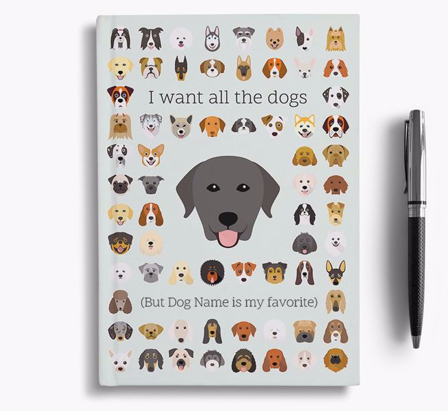 Rescue Dog 'I Want All The Dogs' Personalized Notebook