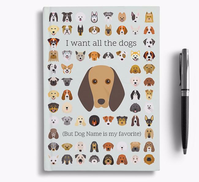 Segugio Italiano 'I Want All The Dogs' Personalized Notebook