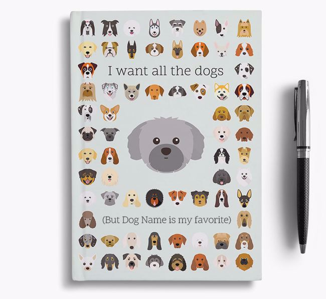Shih Tzu 'I Want All The Dogs' Personalized Notebook