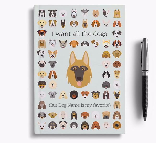 Shollie 'I Want All The Dogs' Personalized Notebook