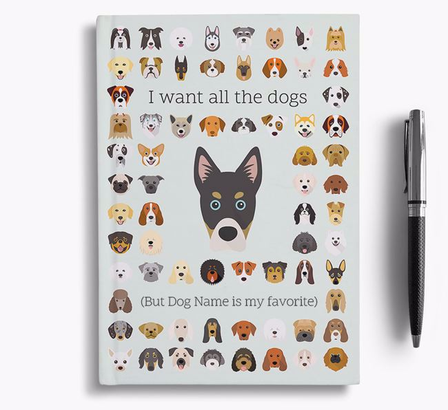 Siberian Cocker 'I Want All The Dogs' Personalized Notebook
