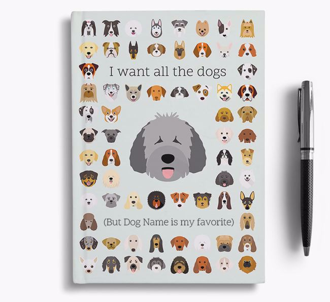 Spanish Water Dog 'I Want All The Dogs' Personalized Notebook