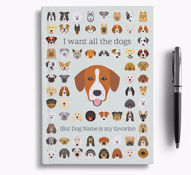 Springador 'I Want All The Dogs' Personalized Notebook