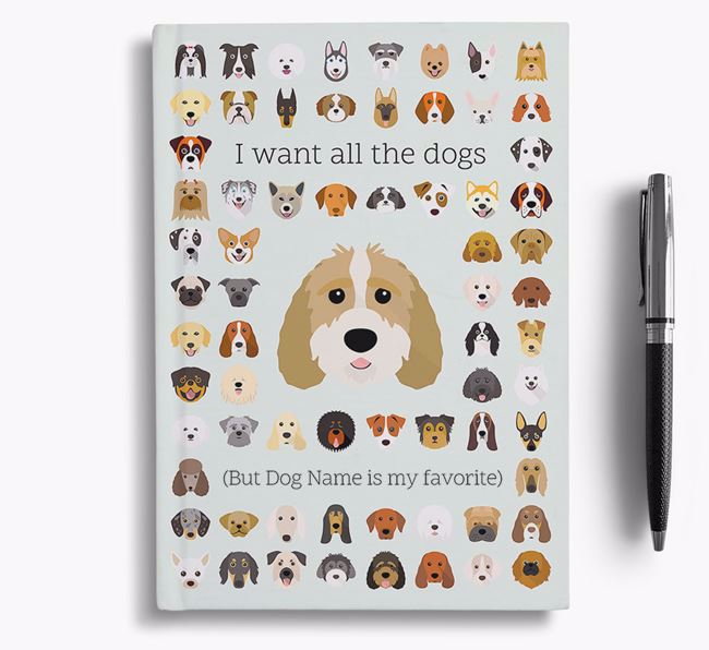 Sproodle 'I Want All The Dogs' Personalized Notebook