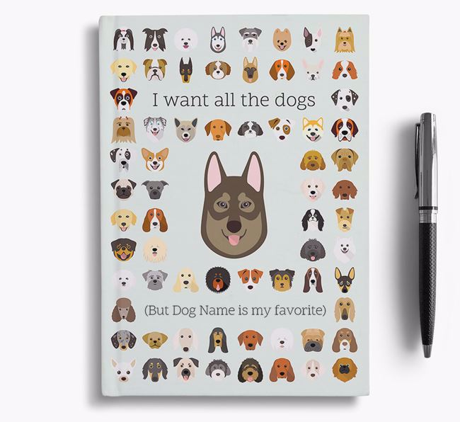 Tamaskan 'I Want All The Dogs' Personalized Notebook
