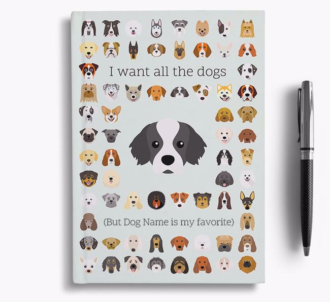 Tibetan Spaniel 'I Want All The Dogs' Personalized Notebook