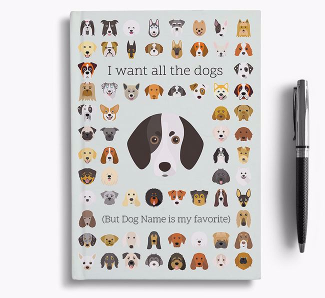 Trailhound 'I Want All The Dogs' Personalized Notebook