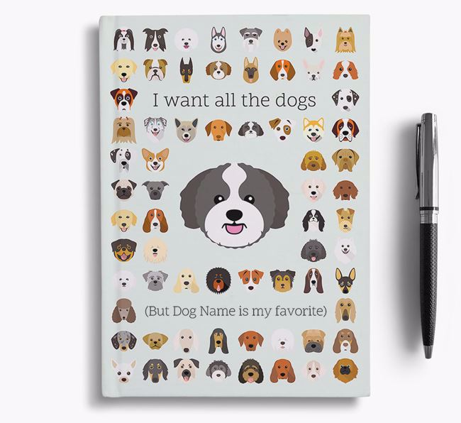 Zuchon 'I Want All The Dogs' Personalized Notebook