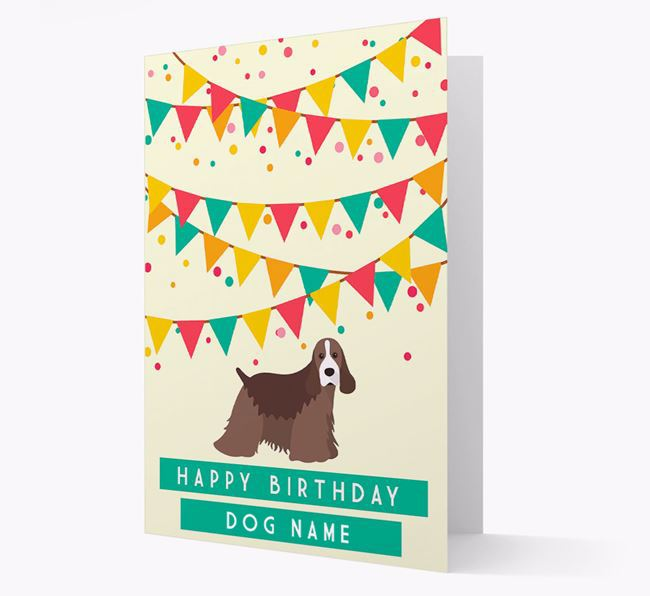 'Happy Birthday' Card with American Cocker Spaniel Icon
