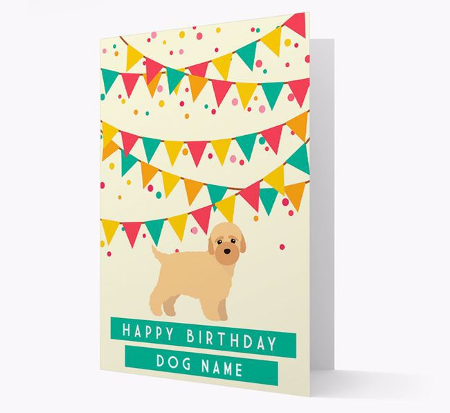 'Happy Birthday' Card with Bich-poo Icon