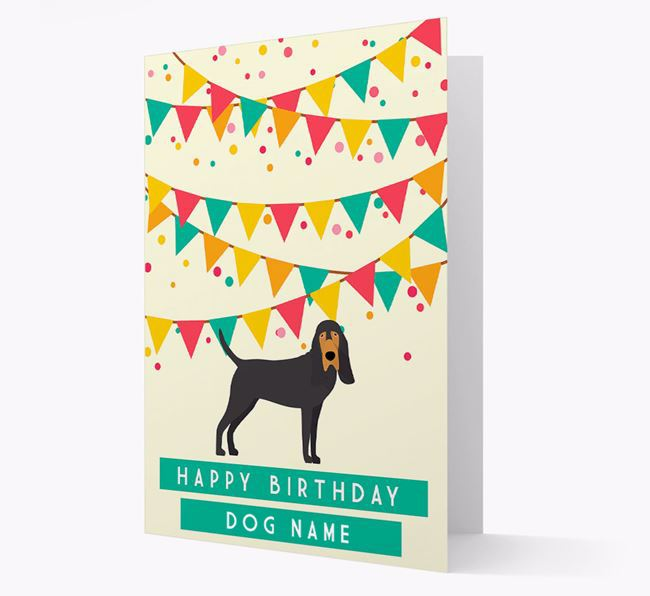 'Happy Birthday' Card with Bloodhound Icon