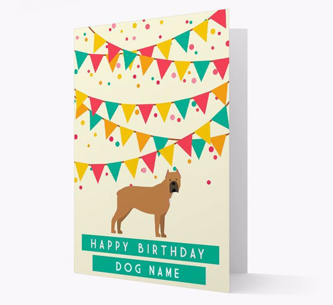 'Happy Birthday' Card with Cane Corso Italiano Icon