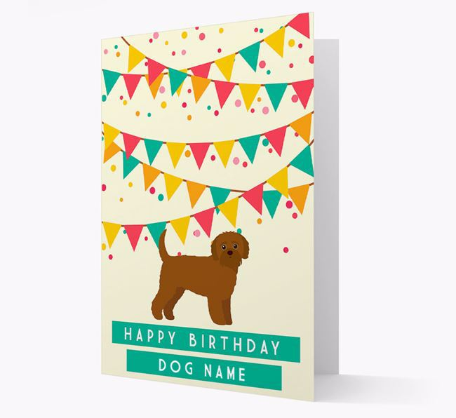 'Happy Birthday' Card with Jack-A-Poo Icon