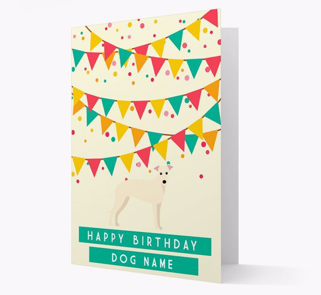 'Happy Birthday' Card with Lurcher Icon