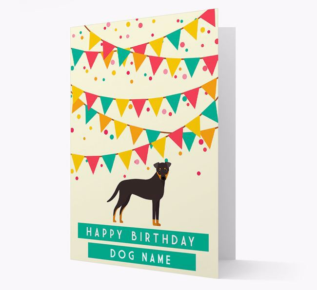 'Happy Birthday' Card with Dog Icon