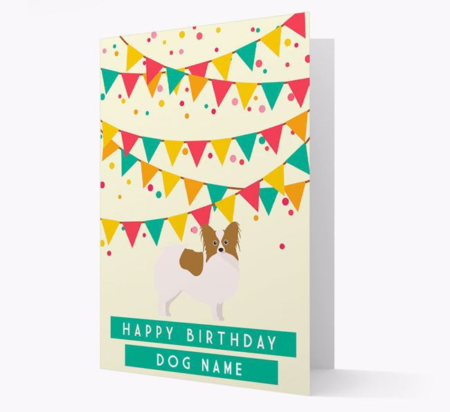 'Happy Birthday' Card with Papillon Icon
