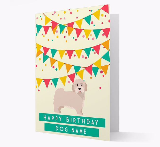 'Happy Birthday' Card with Tibetan Terrier Icon