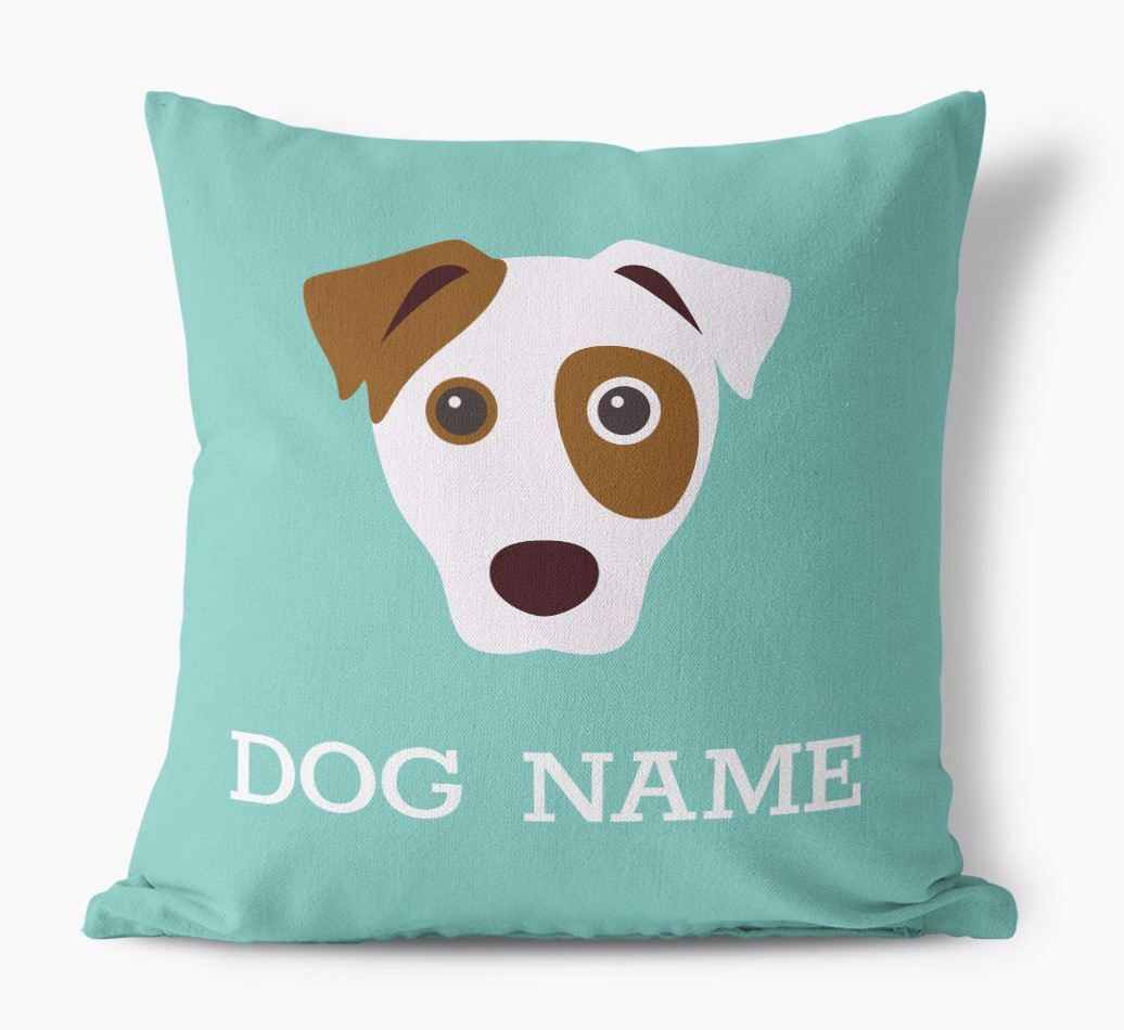 {colour} Dog Icon Canvas Pillow front view