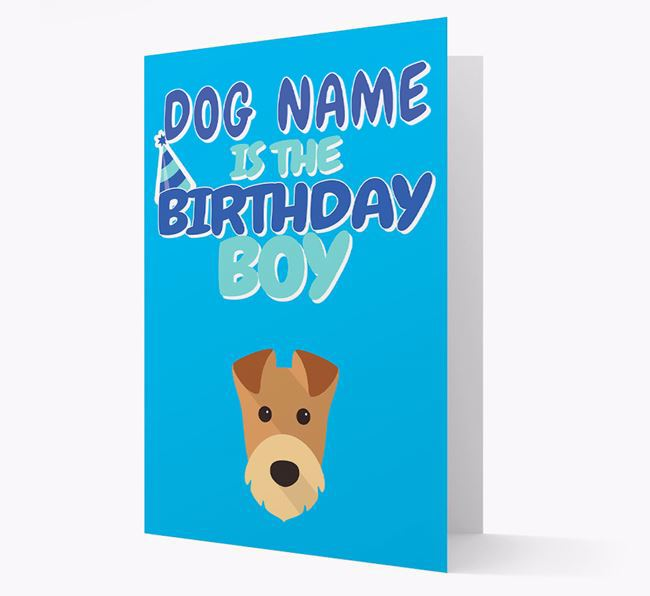 'Birthday Boy' Card with Airedale Terrier Icon