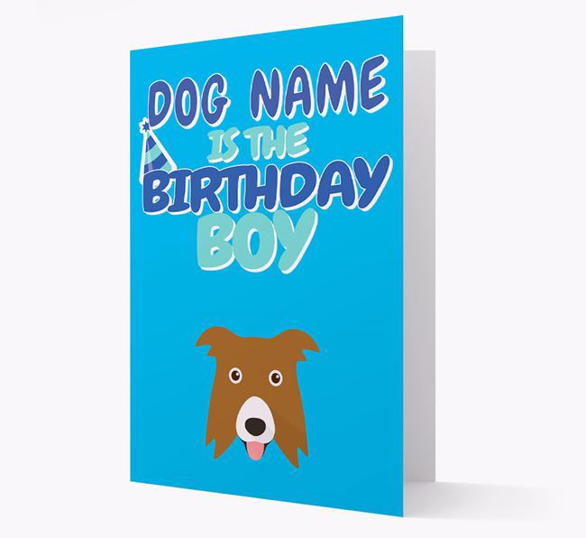 'Birthday Boy' Card with Border Collie Icon
