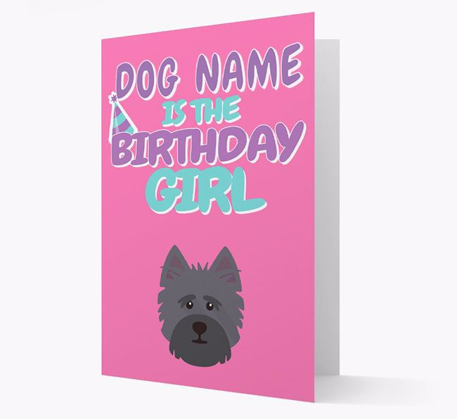 'Birthday Girl' Card with Cairn Terrier Icon