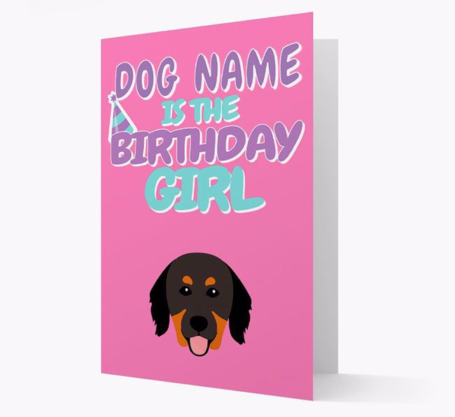 'Birthday Girl' Card with Hovawart Icon