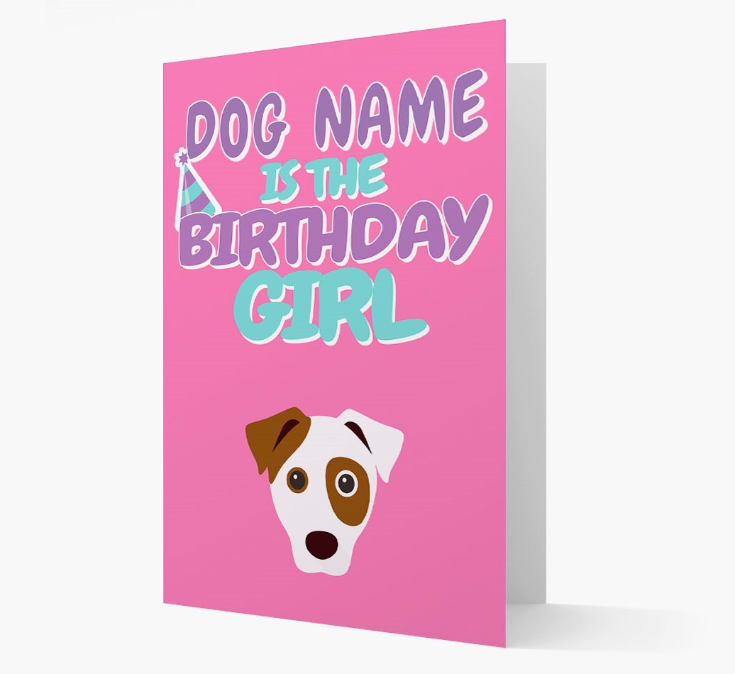 'Birthday Girl' Card with Dog Icon