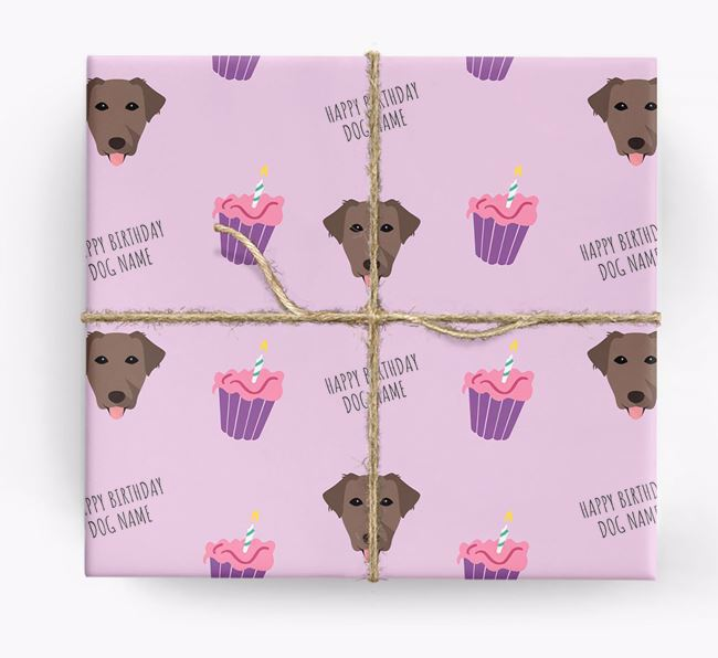 Personalized 'Happy Birthday' Cupcake Wrapping Paper with Borador Icons