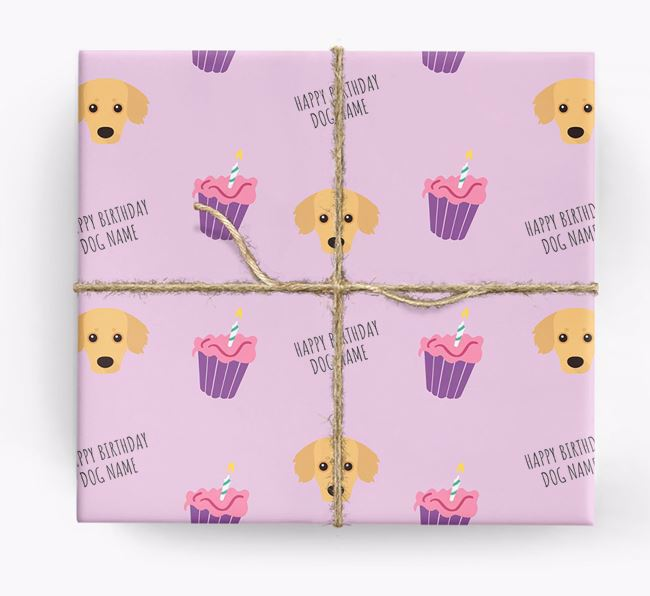 Personalised 'Happy Birthday' Cupcake Wrapping Paper with Kokoni Icons