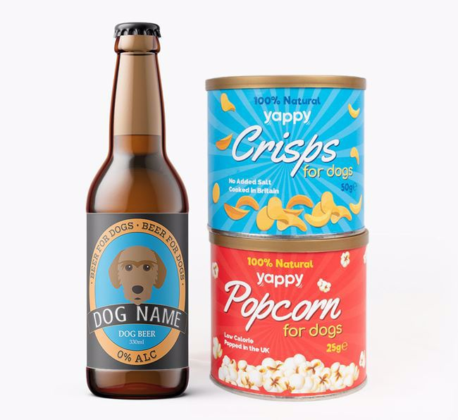 Personalised Fauve Beer Bundle with Crisps & Popcorn