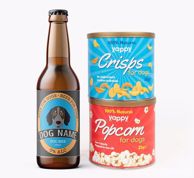 Personalised Brittany Beer Bundle with Crisps & Popcorn