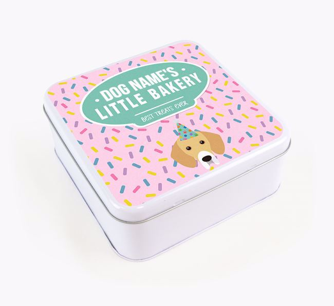 'Little Bakery' Square Treat Tin with Bassador Icon