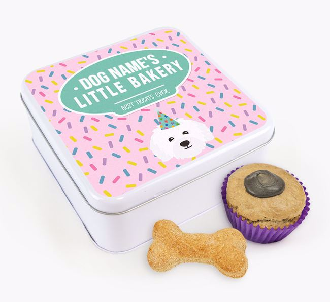 'Little Bakery' Square Treat Tin with Bolognese Icon
