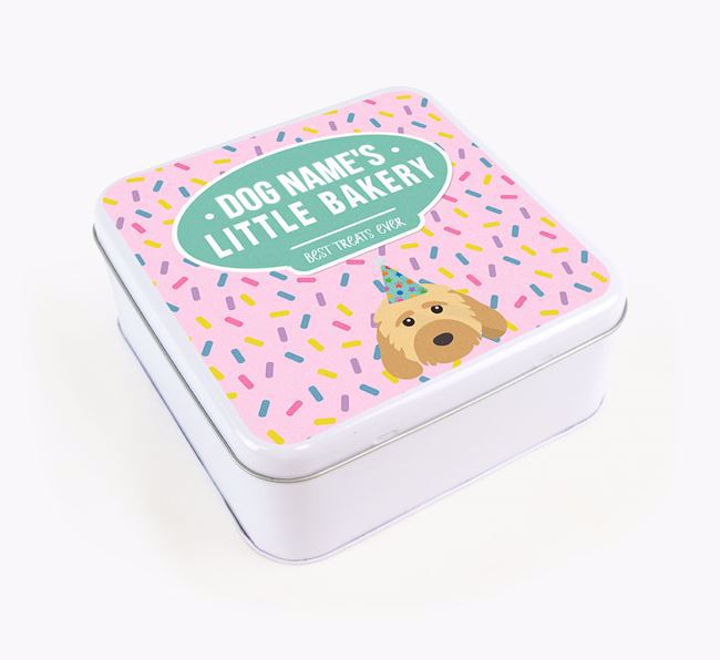 'Little Bakery' Square Treat Tin with Cockapoo Icon